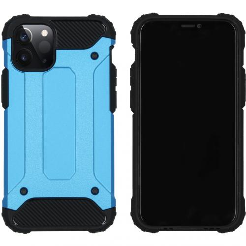 Rugged Xtreme Backcover voor de iPhone 12 5.4 inch - Lichtblauw