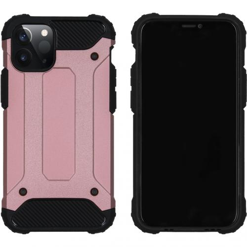 Rugged Xtreme Backcover voor de iPhone 12 5.4 inch - Rosé Goud