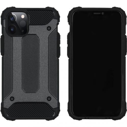 Rugged Xtreme Backcover voor de iPhone 12 5.4 inch - Zwart