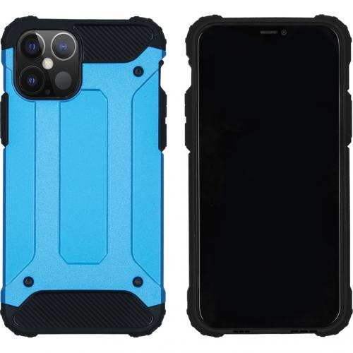 Rugged Xtreme Backcover voor de iPhone 12 6.1 inch - Lichtblauw