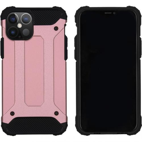 Rugged Xtreme Backcover voor de iPhone 12 6.1 inch - Rosé Goud