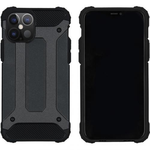 Rugged Xtreme Backcover voor de iPhone 12 6.1 inch - Zwart