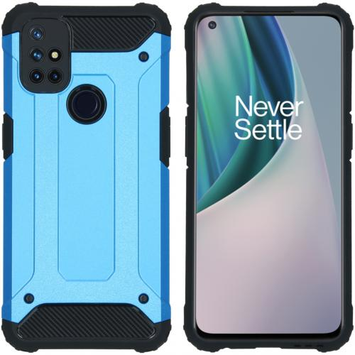 Rugged Xtreme Backcover voor de OnePlus Nord N10 5G - Lichtblauw