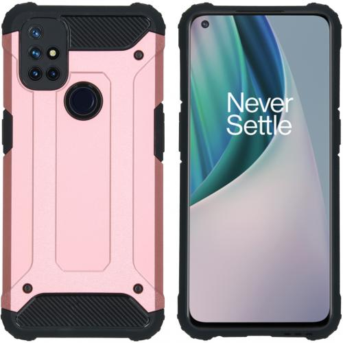 Rugged Xtreme Backcover voor de OnePlus Nord N10 5G - Rosé Goud