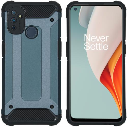 Rugged Xtreme Backcover voor de OnePlus Nord N100 - Donkerblauw