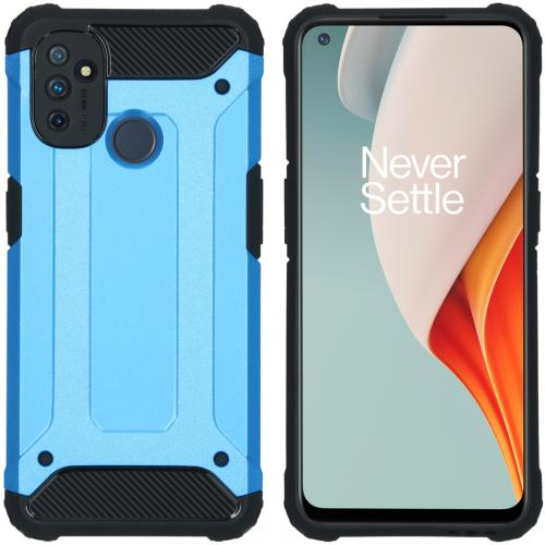 Rugged Xtreme Backcover voor de OnePlus Nord N100 - Lichtblauw