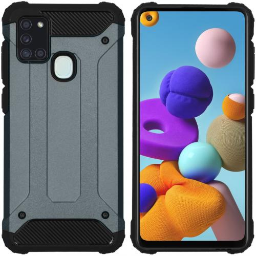 Rugged Xtreme Backcover voor de Samsung Galaxy A21s - Donkerblauw