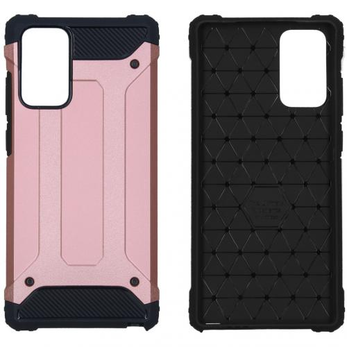 Rugged Xtreme Backcover voor de Samsung Galaxy Note 20 - Rosé Goud