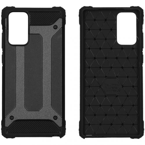 Rugged Xtreme Backcover voor de Samsung Galaxy Note 20 - Zwart