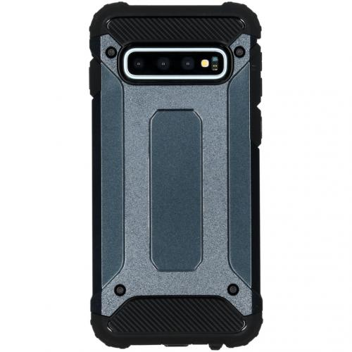 Rugged Xtreme Backcover voor de Samsung Galaxy S10 - Donkerblauw