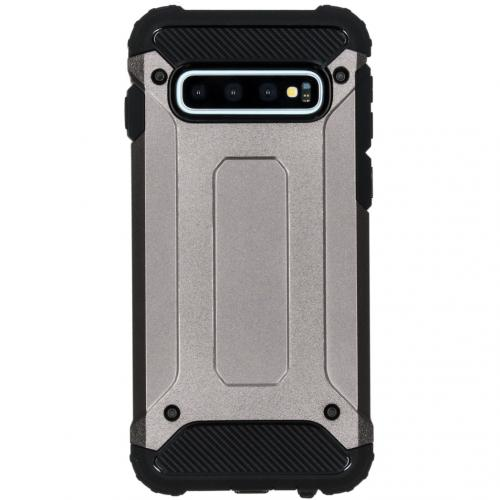 Rugged Xtreme Backcover voor de Samsung Galaxy S10 - Grijs
