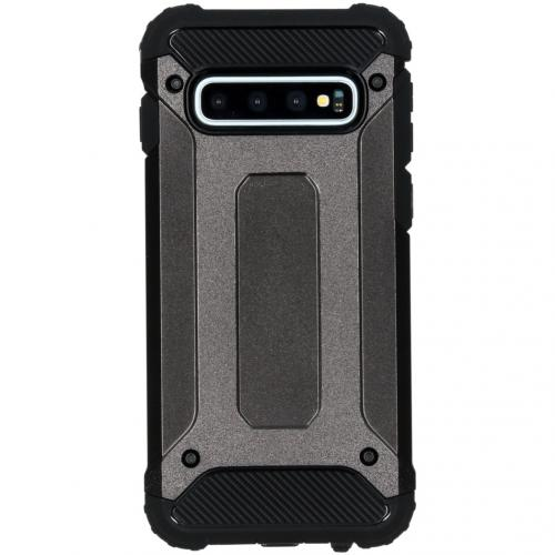 Rugged Xtreme Backcover voor de Samsung Galaxy S10 - Zwart