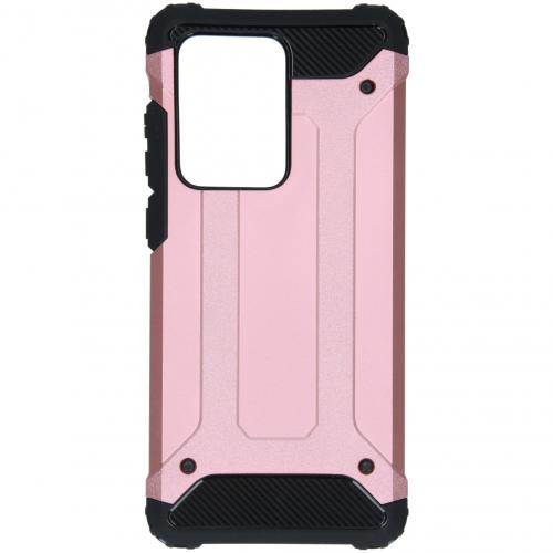 Rugged Xtreme Backcover voor de Samsung Galaxy S20 Ultra - Rosé Goud