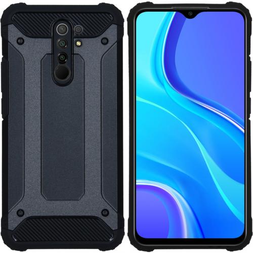 Rugged Xtreme Backcover voor de Xiaomi Redmi 9 - Zwart