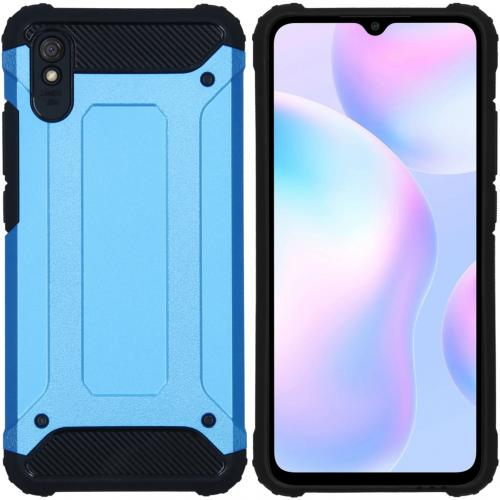 Rugged Xtreme Backcover voor de Xiaomi Redmi 9A - Lichtblauw