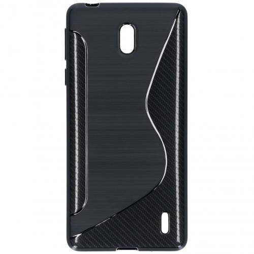 S-line Backcover voor de Nokia 1 Plus - Zwart