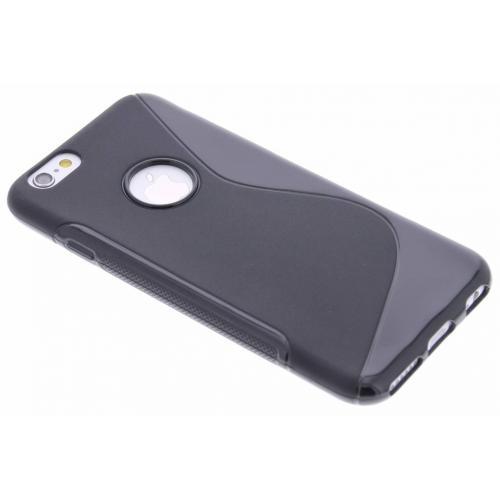 S-line Backcover voor iPhone 6 / 6s - Zwart