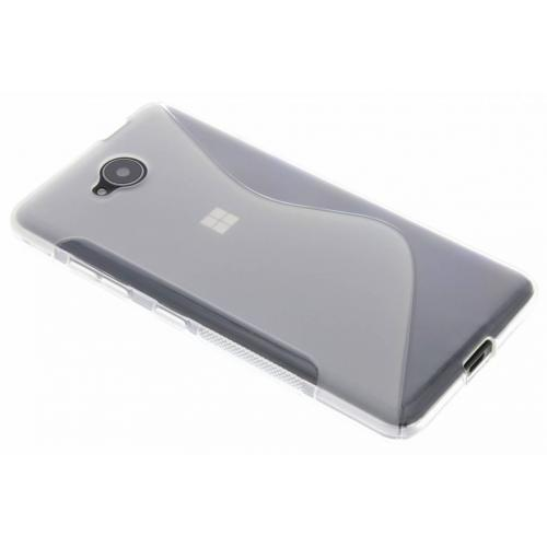 S-line Backcover voor Microsoft Lumia 650 - Transparant