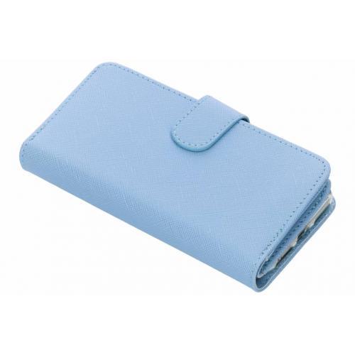 Saffiano 9 slots Portemonnee voor iPhone 8 / 7 / 6s / 6 - Lichtblauw