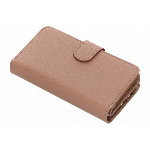 Saffiano 9 slots Portemonnee voor iPhone 8 / 7 / 6s / 6 - Lichtbruin
