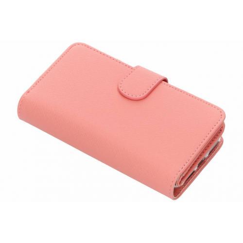 Saffiano 9 slots Portemonnee voor iPhone 8 / 7 / 6s / 6 - Roze