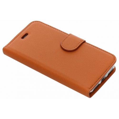 Saffiano Booktype voor iPhone 8 / 7 / 6s / 6 - Oranje