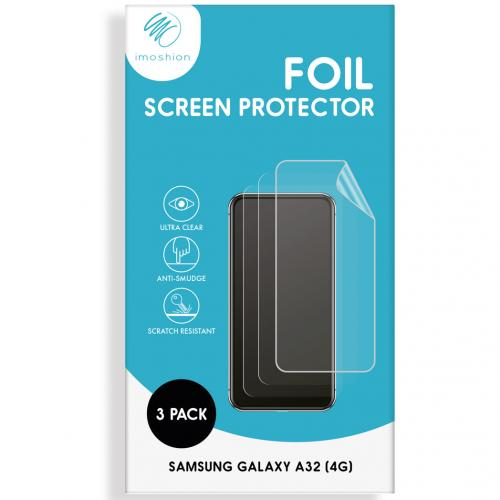 Screenprotector Folie 3 pack voor de Samsung Galaxy A32 (4G)