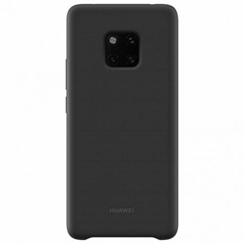 Silicone Backcover voor Huawei Mate 20 Pro - Zwart