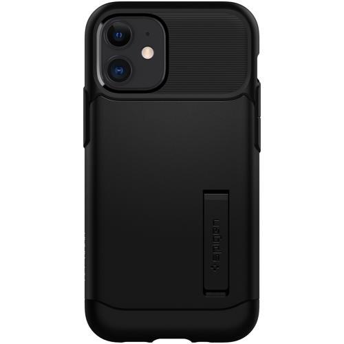Slim Armor Backcover voor de iPhone 12 Mini - Zwart