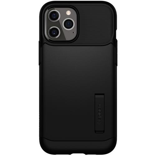 Slim Armor Backcover voor de iPhone 12 Pro Max - Zwart