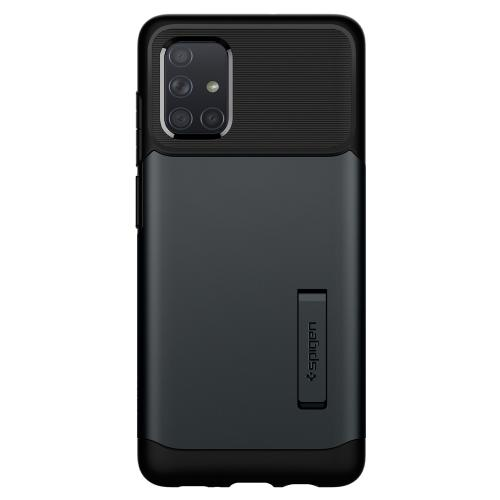 Slim Armor Backcover voor de Samsung Galaxy A71 - Grijs