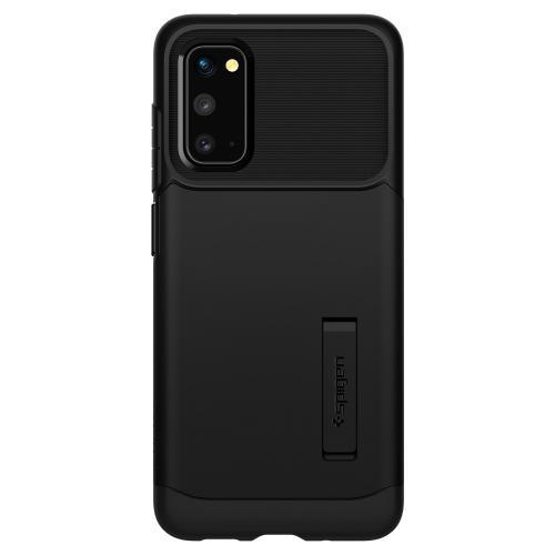 Slim Armor Backcover voor de Samsung Galaxy S20 - Zwart