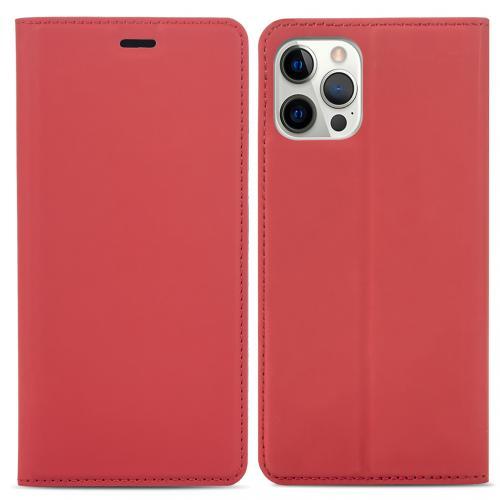Slim Folio Book Case voor de iPhone 12 (Pro) - Rood