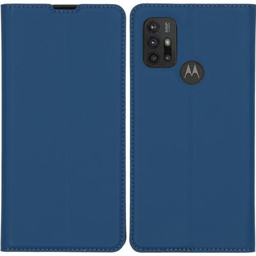 Slim Folio Book Case voor de Motorola Moto G30 / G10 (Power) - Donkerblauw