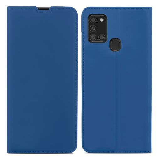 Slim Folio Book Case voor de Samsung Galaxy A21s - Donkerblauw