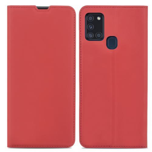 Slim Folio Book Case voor de Samsung Galaxy A21s - Rood