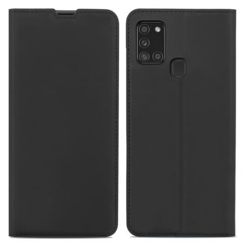 Slim Folio Book Case voor de Samsung Galaxy A21s - Zwart