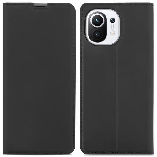 Slim Folio Book Case voor de Xiaomi Mi 11 - Zwart