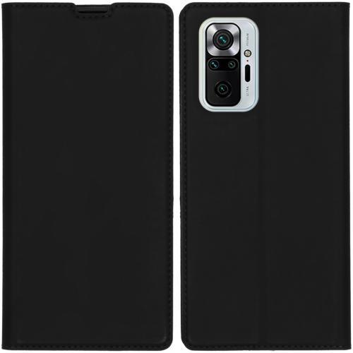Slim Folio Book Case voor de Xiaomi Redmi Note 10 Pro - Zwart
