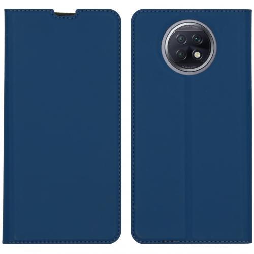 Slim Folio Book Case voor de Xiaomi Redmi Note 9T (5G) - Donkerblauw