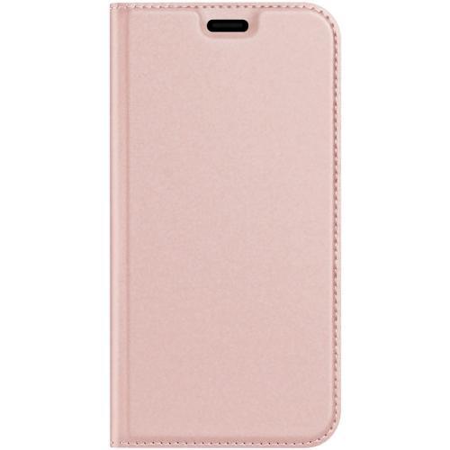 Slim Softcase Booktype voor de iPhone 12 6.7 inch - Rosé Goud