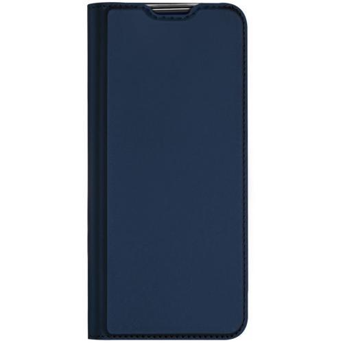 Slim Softcase Booktype voor de OnePlus 8T - Donkerblauw