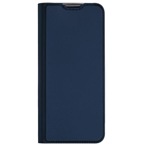 Slim Softcase Booktype voor de Oppo A53 / Oppo A53s - Donkerblauw