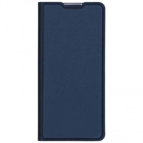 Slim Softcase Booktype voor de Oppo Reno3 Pro - Blauw