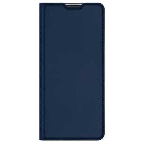 Slim Softcase Booktype voor de Oppo Reno4 Z 5G - Donkerblauw