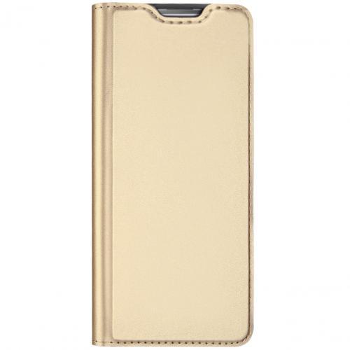 Slim Softcase Booktype voor de Samsung Galaxy Note 10 Lite - Goud