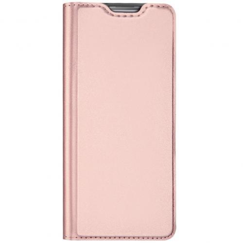 Slim Softcase Booktype voor de Samsung Galaxy Note 10 Lite - Rosé Goud