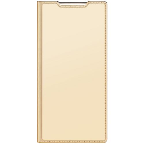 Slim Softcase Booktype voor de Samsung Galaxy Note 20 Ultra - Goud