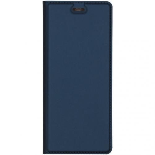 Slim Softcase Booktype voor de Sony Xperia 5 - Donkerblauw