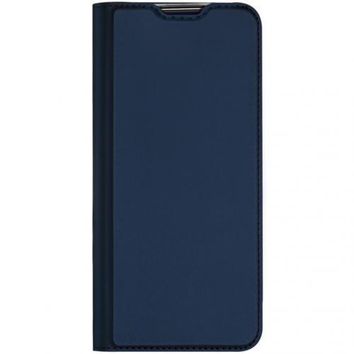 Slim Softcase Booktype voor de Xiaomi Redmi Note 9 - Donkerblauw